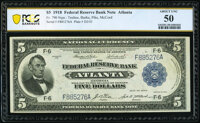 Fr. 790 $5 1918 Federal Reserve Bank Note PCGS Banknote About Unc 50