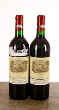Red Bordeaux, Chateau Lafite Rothschild 1996 . Pauillac . 2lbsl, 1 sticker residue above front label. Bottle (2)
