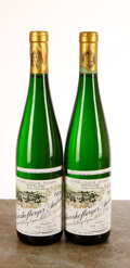 Riesling Auslese 2003 Scharzhofberger, Gold Cap, Auction, E. Muller 2wl, 2lcc, 2ssos due to overfill Bottle (2) Riesling...