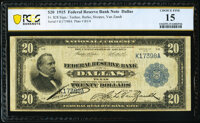 Fr. 828 $20 1915 Federal Reserve Bank Note PCGS Banknote Choice Fine 15