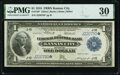 Large Size:Federal Reserve Bank Notes, Fr. 739* $1 1918 Federal Reserve Bank Star Note PMG Very Fine 30.. ...
