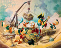 """Memorabilia:Comic-Related, Carl Barks """"Return to Morgan's Island"""" Uncle Scrooge and Donald Duck Limited Edition Signed Lithographic Print #317/345 (Anoth..."""