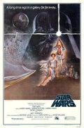 """Movie Posters:Science Fiction, Star Wars (20th Century Fox, 1977). Folded, Overall: Very Fine+. One Sheet (27"""" X 41"""") Style A, Third Printing, Lobby..."""