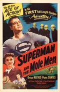 """Superman and the Mole Men & Other Lot (Lippert, 1951). Folded, Very Fine+. One Sheet (27"""" X 41"""") and Press..."""