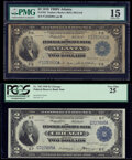 Fr. 763 $2 1918 Federal Reserve Bank Note PMG Choice Fine 15; Fr. 765 $2 1918 Federal Reserve Bank Note PCGS Very Fine 2...