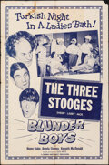 """Movie Posters:Comedy, The Three Stooges in Blunder Boys (Columbia, 1955). Folded, Fine-. One Sheet (27"""" X 41""""). Comedy.. ..."""
