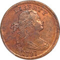 1797 1C Reverse of 1797, Stems, S-139, B-21, R.1, MS65 Red and Brown PCGS....(PCGS# 35949)