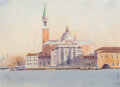Works on Paper, Continental School (20th Century). Venice, 1984. Watercolor on paper. 9-3/4 x 14 inches (24.8 x 35.6 cm). Indistinctly s...