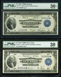 Fr. 710* $1 1918 Federal Reserve Bank Star Note PMG Very Fine 30 EPQ; Fr. 712* $1 1918 Federal Reserve Bank Star Note PM...