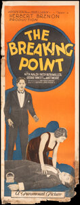 """Movie Posters:Mystery, The Breaking Point (Paramount, 1924). Rolled, Fine-. Insert (14"""" X 36""""). Mystery.. ..."""