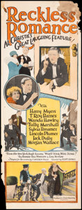 """Movie Posters:Comedy, Reckless Romance (Producers Distributing Corp., 1924). Rolled, Very Good/Fine. Insert (14"""" X 36""""). Comedy.. ..."""