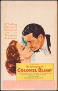 """Movie Posters:Drama, The Life and Death of Colonel Blimp (General Film Distributors, 1945). Fine/Very Fine. Window Card (14"""" X 22""""). Alternate U...."""