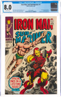 Silver Age (1956-1969):Superhero, Iron Man and Sub-Mariner #1 (Marvel, 1968) CGC VF 8.0 Off-white pages....