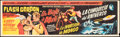 """Movie Posters:Serial, Flash Gordon Conquers the Universe (Universal, R-1960s). Folded, Fine/Very Fine. Mexican Banner (8.5"""" X 28.5""""). Serial.. ..."""