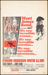 """From Russia with Love (United Artists, 1964). Fine+. Window Card (14"""" X 22""""). James Bond"""