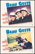 """Movie Posters:Adventure, Beau Geste (Paramount, 1939). Fine/Very Fine. Lobby Cards (2) (11"""" X 14"""") & Herald (4 Pages, 8.5"""" X 11.5""""). Adventure.. ... (Total: 3 Items)"""