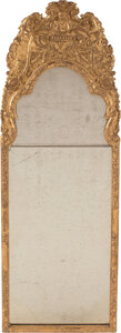 Furniture, A George II Carved Giltwood Mirror, 18th century. 42 x 14-3/4 inches (106.7 x 37.5 cm). ...