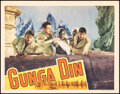 """Movie Posters:Action, Gunga Din (RKO, 1939). Very Fine-. Lobby Card (11"""" X 14""""). Action.. ..."""