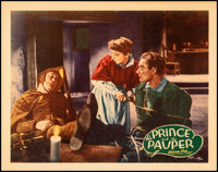 """The Prince and the Pauper (Warner Bros., 1937). Very Fine. Linen Finish Lobby Card (11"""" X 14""""). Swashbuckler..."""