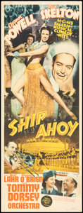 """Movie Posters:Musical, Ship Ahoy (MGM, 1942). Folded, Fine/Very Fine. Insert (14"""" X 36""""). Musical.. ..."""