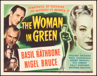 """The Woman in Green (Universal, 1945). Very Fine+. Title Lobby Card (11"""" X 14""""). Mystery"""