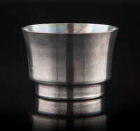 A Russian-Style Silver-Plated Beaker 1-3/4 x 2-1/2 inches (4.4 x 6.4 cm)