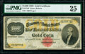 Large Size:Gold Certificates, Fr. 1218f $1,000 1882 Gold Certificate PMG Very Fine 25.. ...