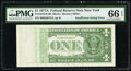 Error Notes:Inking Errors, Insufficient Inking of Back Printing Error Fr. 1910-B $1 1977A Federal Reserve Note. PMG Gem Uncirculated 66 EPQ.. ...