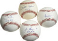 Autographs:Baseballs, Significant Stars Single Signed Baseballs Lot of 4. Some prominentfigures in the history of America's Pastime have applied...