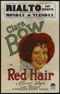 "Movie Posters:Comedy, Red Hair (Paramount, 1928). Window Card (14"" X 22""). Comedy...."