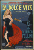 "Movie Posters:Foreign, La Dolce Vita (Cineriz, 1960). Argentinean Poster (29"" X 43"").Drama...."