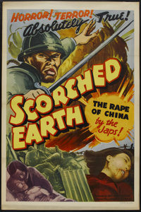 "Scorched Earth (MGM, 1942). One Sheet (27"" X 41"") Tri-Folded. War"