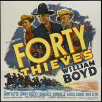 "Forty Thieves (United Artists, 1944). Six Sheet (81"" X 81""). Western"