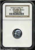 Proof Roosevelt Dimes: , 2002-S Silver PR 70 Deep Cameo NGC. ...