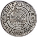 1776 $1 Continental Dollar, CURRENCY, Pewter, EG FECIT, MS64 PCGS. Newman 3-D, W-8460, R.4....(PCGS# 795)