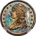 1831 25C Small Letters, B-1, R.8 as a Proof, PR66 NGC. CAC....(PCGS# 5379)