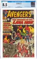 Silver Age (1956-1969):Superhero, The Avengers #5 (Marvel, 1964) CGC VF+ 8.5 Off-white to white pages....