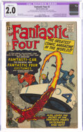 Silver Age (1956-1969):Superhero, Fantastic Four #3 (Marvel, 1962) CGC Apparent GD 2.0 Slight (C-1) Cream to off-white pages....
