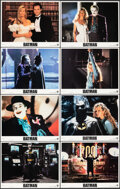 """Movie Posters:Action, Batman (Warner Bros., 1989). Very Fine/Near Mint. Lobby Card Set of 8 (11"""" X 14""""). Action.. ... (Total: 8 Items)"""