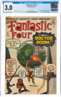 Fantastic Four #5 (Marvel, 1962) CGC GD/VG 3.0 Off-white pages