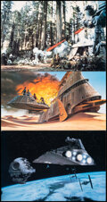 """Movie Posters:Science Fiction, Return of the Jedi (20th Century Fox, 1983). Very Fine. Jumbo Deluxe Lobby Cards (2) (20"""" X 30"""") & Art Print (16.75"""" X 30"""") ... (Total: 3 Items)"""