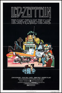 """The Song Remains the Same (Warner Bros., 1976). Folded, Very Fine. One Sheet (27"""" X 41""""). Rock and Roll"""