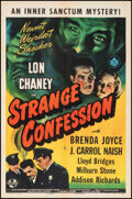 """Movie Posters:Horror, Strange Confession (Universal, 1945). Folded, Very Fine-. One Sheet (27"""" X 41""""). Horror.. ..."""