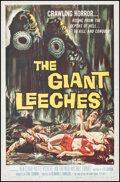 """Movie Posters:Horror, Attack of the Giant Leeches (American International, 1959). Folded, Fine+. One Sheet (27"""" X 41""""). Horror.. ..."""