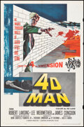 """Movie Posters:Science Fiction, 4D Man (Universal International, 1959). Folded, Fine/Very Fine. One Sheet (27"""" X 41""""). Science Fiction.. ..."""