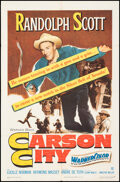 """Movie Posters:Western, Carson City & Other Lot (Warner Bros., 1952). Folded, Fine/Very Fine. One Sheets (2) (27"""" X 41""""). Western.. ... (Total: 2 Items)"""