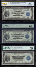 San Francisco $1 1918 Federal Reserve Bank Notes. Fr. 744 PCGS Banknote Choice Unc 63; Fr. 745 PMG About Uncirculate...
