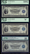$1 1918 Federal Reserve Bank Notes Six Different Districts. New York Fr. 713 PCGS Choice About New 55PPQ; Philadelph...