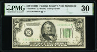 Fr. 2106-E* $50 1934D Federal Reserve Star Note. PMG Very Fine 30