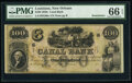 New Orleans, LA- New Orleans Canal and Banking Company $100 18__ G60a Remainder PMG Gem Uncirculated 66 EPQ
